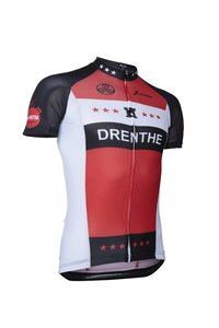 Fortissima Wielershirt  - Heren - Drenthe Merchandise - Zwart/Rood