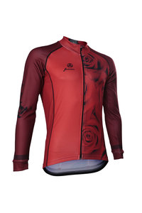 Fortissima Cycling Jacket - Men - Flowers Rose