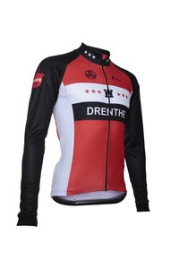Fortissima Wielerjack Pure - Heren - Drenthe - Zwart/rood